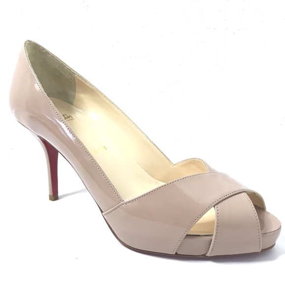 brand new f9401 bcf76 Christian Louboutin Shelley 90 Heels Pumps Nude